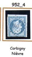 France : Petit Chiffre N° 952 :  Corbigny  ( Nievre  ) Indice 4 - 1849-1876: Periodo Classico