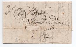 1851 - LETTRE De GARS (BOITE RURALE C) Avec CURSIVE ST SAINT AUBAN & TYPE 15 De GRASSE (ALPES MARITIMES / VAR) - Marcophilie (Lettres)