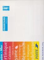 FRANCE 1 Entier Postal Enveloppe N°YT 2806-E10 1997 Marianne De Briat Bleu DOMTOM Enveloppe Cartonnée 328*248 Pour 500 G - Postal Stamped Stationery