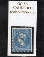 Seine-Maritime - N° 22 Obl GC 777 Caudebec - 1862 Napoléon III