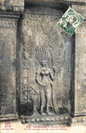 Cambodge - N° 1809 - Phnom-Penh - Divinité Sculptée Sur Les Murs De Phnom - Cambodge