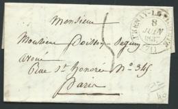 Lac Lettre , De Fresnay Le Vicomte  Cachet A Date 8/06/1837   - Raa2305 - 1801-1848: Précurseurs XIX