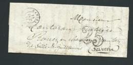 LAC , Lettre Oblitéré Cad Mamers  18 Oct 1853 , Taxe Double Traits 25 -  Raa2310 - Lettres Taxées