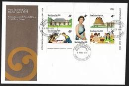 1974 - NEW ZEALAND - FDC + SG MS1046 + WELLINGTON - FDC