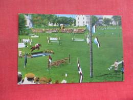 Practice Jump At Stadium Fort Riley Kansas        Ref 3316 - Horse Show