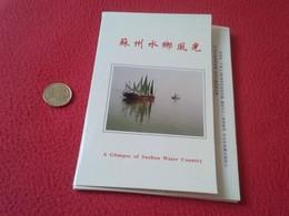 CARPETA DE 10 POSTALES POST CARDS CHINA CHINE A GLIMPSE OF SUZHOU WATER COUNTRY VENICE OF THE EAST LA VENECIA DEL ESTE - China