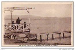 """Cpa  ( Dep 83 )   à HYERES    """" La Plage""""   Maritima Hôtel  - Vue De La Terrasse - Hyeres"""