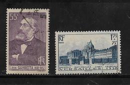 France Timbres  De 1938 N°378 Et  379  Oblitérés Cote 22€20 - Used Stamps