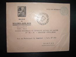 LETTRE MAIRIE OBL.15-9 1965 VILLERS SUR ER CALVADOS (14) - Marcophilie (Lettres)