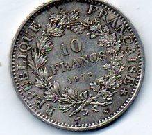 Sam - Piéce , Monnaie , France , 10 Francs HERCULE , 1972, Argent , Silver - K. 10 Francs