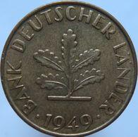 Germany 10 Pfennig 1949 F XF - 10 Pfennig