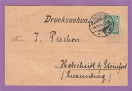 FIRMENKARTE AUS M.-GLADBACH NACH LUXEMBURG. - Germany