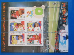 CUBA BLOC NEUF 2002 BEISBOL - Blocks & Kleinbögen