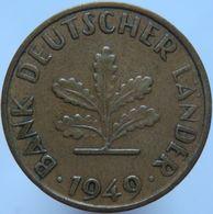 Germany 10 Pfennig 1949 J VF Small J - 10 Pfennig