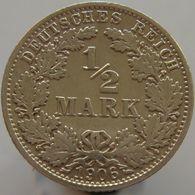 Germany 1/2 Mark 1906 A VF / XF - Silver - [ 2] 1871-1918 : Impero Tedesco