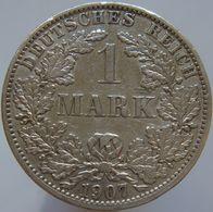 Germany 1 Mark 1907 A VF - Silver - [ 2] 1871-1918 : Impero Tedesco