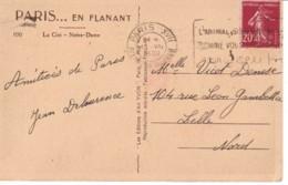 FRANCE : 1936 - Carte Postale De Paris à Lille - L'animal Souffre Comme Vous, Pitié Pour Lui (SPA) - France