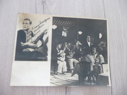 Musique Photo Pub Autographe Tino Rossi Photo Montage Portrait + Concert 23X 17.2 - Autographs