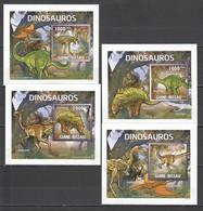 XX154 2011 GUINE-BISSAU FAUNA REPTILES DINOSAURS 4 LUX BL MNH - Briefmarken