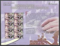 ESPAÑA 2019 - Pliego Premium - Consuelo Alvarez - Homenaje A La Mujer Telegrafista ** - 1931-Aujourd'hui: II. République - ....Juan Carlos I