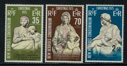 New Hebrides // 1960-1980 // 1975 // Noël, Sculptures De Mickel-Ange Timbres Neufs** MNH No. Y&T 421-423 - Légende Anglaise