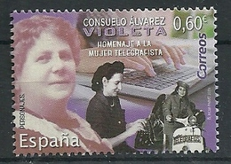 ESPAÑA 2019 - Consuelo Alvarez - Homenaje A La Mujer Telegrafista ** - 1931-Aujourd'hui: II. République - ....Juan Carlos I