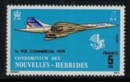 Nouvelles Hébrides // 1960-1980 // 1976 // Concorde, 1er Vol Commercial Timbre Neuf** MNH No. Y&T 424 - Légende Française