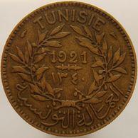 Tunisia 2 Francs 1921 VF / XF - Tunisia
