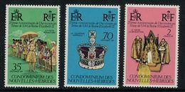 Nouvelle Hébrides // 1960-1980 // 1977 // 25ème Anniversaire De L'accession Au Trône Timbres Neufs** MNH No. Y&T 444-446 - Neufs