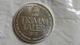 1992 AOK TRIMM TALER GERMANY COIN TOKEN MEDAL THALER Health Insurance Munze Deutschland ERNEST AUGUSTUS - Germania