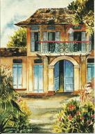 CARTE POSTALE PORTEFEUILLE - GUYANE - Aquarelle De Mme GOBIN - Editions G. DELABERGERIE N° 689 - Guyane