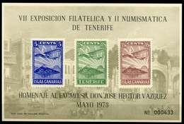ESPAÑA. TENERIFE. HOJA RECUERDO. VII EXPOSICIÓN FILATELICA Y II NUMISMATICA - 1931-Hoy: 2ª República - ... Juan Carlos I