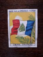 L20/33 Chromo Image Chocolat Pupier. Liban . Drapeau - Chocolate
