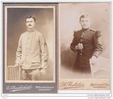 """2 Photos-Cartonnées Réf-JP-V-v-278 ( De MILITAIRE  """""""" Guerre 1914-18 """""""" ) - Guerra, Militari"""