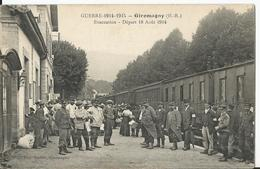 CPA - 90 - Territoire De Belfort - Giromagny - Evacuation - Départ Aout 1914  - Guerre - Militaire - Francia