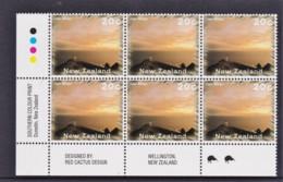 New Zealand 1995 Scenic 20c Cape Reinga Control Block MNH, 2 Kiwis - New Zealand