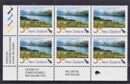 New Zealand 2007 Scenic 50c Lake Coleridge Control Block MNH, 1 Kiwi - New Zealand