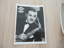 Musique Photo Pub Selmer Saxo Saxophoniste Al Gallodora  Concertiste Radio Américaine 17.5 X 23.4 - Photos