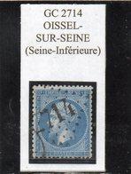 Seine-Maritime - N° 22 Obl GC 2714 Oissel-sur-Seine - 1862 Napoleon III