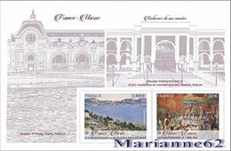 France 2019 BF Emission Commune - France Maroc - Paul Cézanne (1839-1906) Jacques Majorelle (1886-1962) - Neuf - Blocs & Feuillets