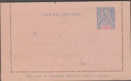 NOUVELLE CALEDONIE 1 Entier Postal Neuf YT 25-CL Carte Lettre Timbre émissions Coloniales De1900 25c Bleu - Postwaardestukken