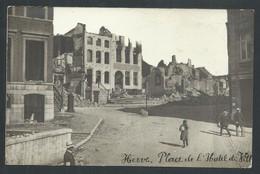 +++ CPA - Photo Carte - Foto Kaart - HERVE - Place De L'Hôtel De Ville  - Ruines Guerre  // - Herve