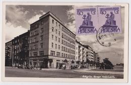 GDYNIA - Skwer Kosciuszki  Fotoplastyka Sopot - Affranchissement Timbre Pologne Pour Majunga Madagascar - Pologne