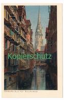 674 Zeno Diemer Hamburg Nicolaikirche Litho Künstlerkarte - Diemer, Zeno