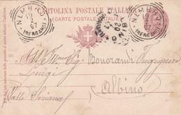 INTERO POSTALE CENT. 10 - NEMBRO ( BERGAMO) - VIAGGIATA PER ALBINO ( BERGAMO) - 1878-00 Umberto I