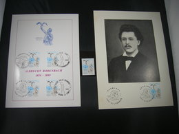 """BELG.1980 1993** & 2 X FDC Phila Cards  : """" Albrecht Rodenbach """" - FDC"""