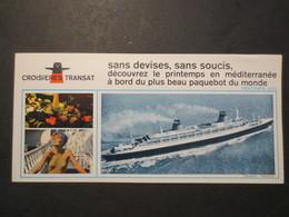"""Paquebot """" France """" Cie Générale Transatlantique Plaquette Dépliante De Croisière Transat - 1969 - 1970 - Bateaux"""