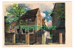 688 Zeno Diemer Leipzig Schillers Wohnhaus Litho Künstlerkarte - Diemer, Zeno