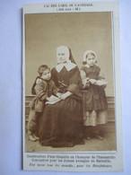 Photographie Ancienne CDV - 1863 - Institution Des Jeunes Aveugles  Marseille  - Photo VITIGLIANO & TERRIS   TBE - Old (before 1900)