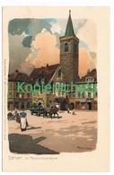 761 Marcks Alexander Erfurt St. Aegidienkirche Litho Künstlerkarte - Other Illustrators